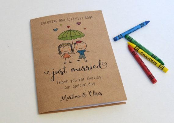 Wedding Coloring Book Kids Wedding Activity Book Wedding