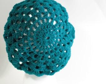 Crochet Knit Beret Hat Beanie Slouchy