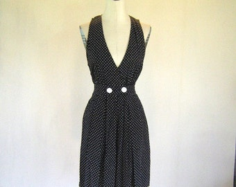Black & White Polka Dot Summer Romper