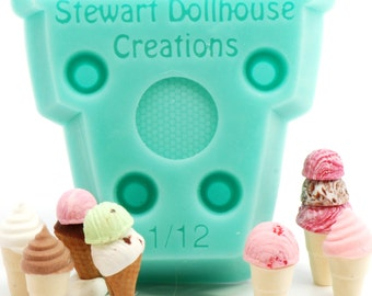 BRAND NEW! 1:12 Ice Cream Cone Mold