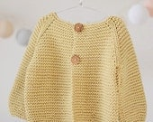 baby, toddler sweater / baby, toddler cardigan / ORGANIC clothing / hand knit baby, toddler jumper