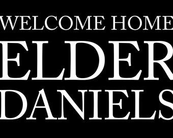 Missionary Welcome Home Vinyl Banner Sign