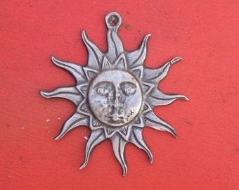 Large Sun Tin/Silver Milagro Ex Voto