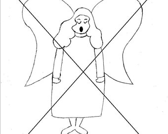 Angel Singing Digital Stamp Image