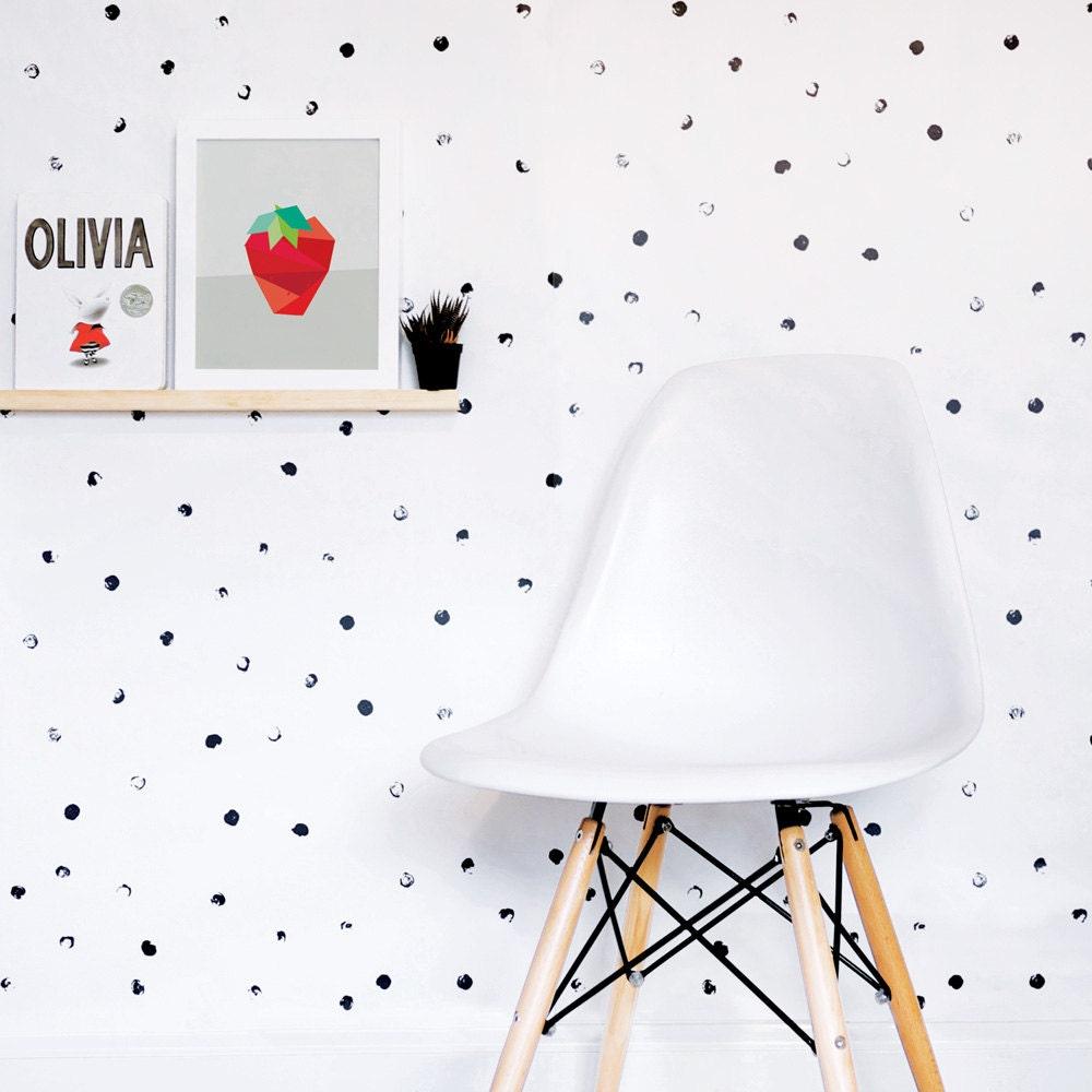 Modern interior wallpaper swatch - Dots Wallpaper Black And White Wallpaper Kids Wallpaper Monochrome Wall Sticker