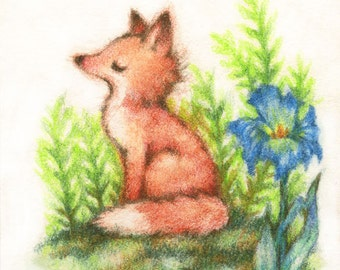 Feeling Foxy - Print ACEO or 5x7 by Carmen Medlin