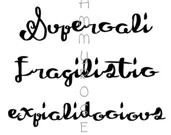 Supercalifragilisticexpialidocious Printable