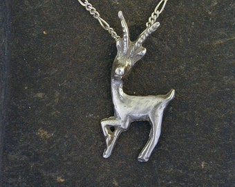 Sterling Silver Gazelle Pendant on a Sterling Silver Chain