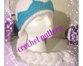 Queen Elsa inspired hat- CROCHET PATTERN- permission to sell finished product