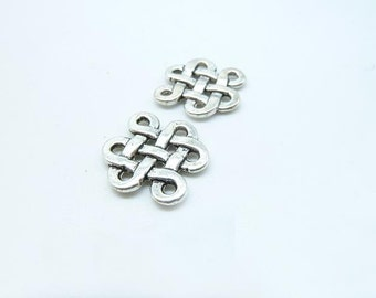 30pcs 14x17mm Antique Silver Chinese Knot celtic knot Connector Link Charms Pendant c6161