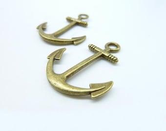 15pcs 25x31mm Antique Bronze  Anchor  Charm Pendant c7050