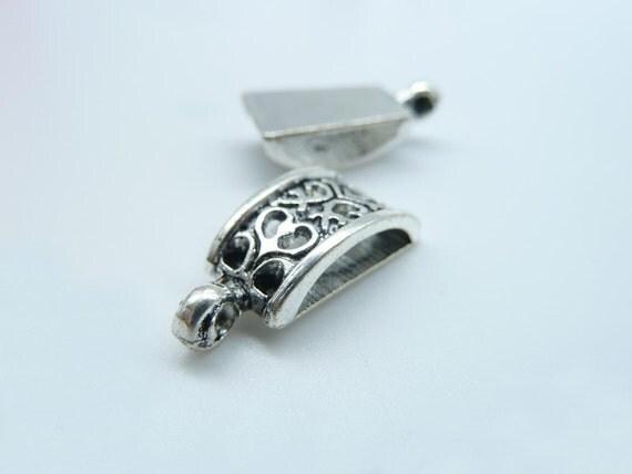 15pcs 10x20mm Antique Silver Necklace Connectors Pendants Clasps Spacers C2568