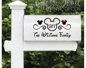 "Disney ""Mickey Mouse"" Vinyl Mailbox Lettering Decoration 6""X11"""