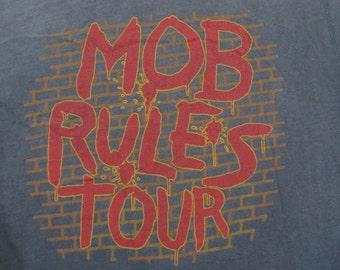 BLACK SABBATH 1981 tour T SHIRT burnout