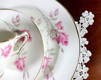 Crown Staffordshire, Tea Cup Trio, Cup Saucer Plate, English Tea Cup Set, Bone China Tea 12293