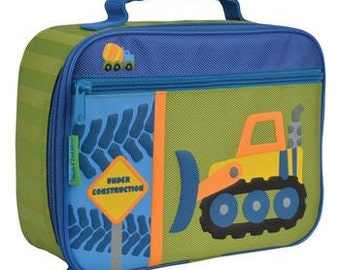 Stephen Joseph  construction boys lunch box personalized, monogrammed, lunch bag