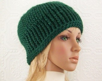 Crochet hat - beanie - green women's accessories - Winter Accessories by Sandy Coastal Designs - ready to ship - made in America