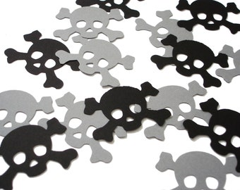 25 Pirate Skull and Crossbones Confetti, Party Decorations, Pirate Party - No512
