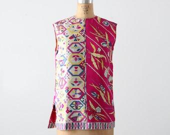 vintage 60s Pucci blouse, mod sleeveless silk tunic