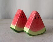Vintage Salt and Pepper Shakers Watermelon Shakers Backyard Fun Picnic Bar B Que Fourth Of July