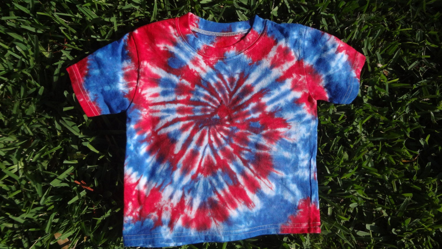 2t Red White And Blue Tie Dye Swirl T Shirt Patriotic Tie