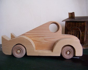 Solid Toy Car, Sturdy Cadillac Style, Handcrafted for the Children, Kids, Boy Girl Toy