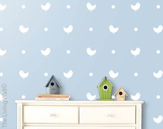 Vinyl Wall Sticker Decal Home - Chicks and polka dots