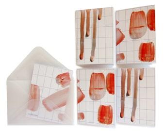 dab of paint mini cards + envelopes