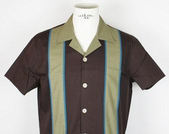 Double Panel Pinstripe Shirt *Ready to Ship* Dark Brown