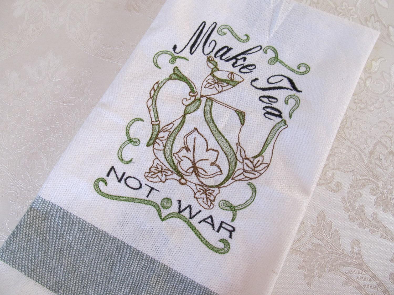 Tea towel embroidery patterns makaroka