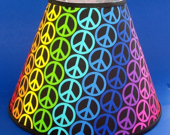 Retro Peace Symbol Lamp Shade