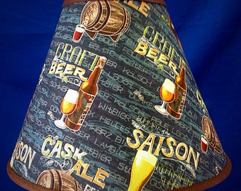 Craft Beer Lamp Shade