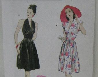 Halter Dress, Retro Style Dress Pattern, Uncut, Butterick 5209, Vintage Style Halter Dress, 1947 Dress Pattern, Women's SZ 6 through 12