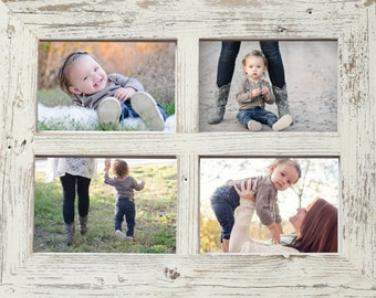 """2"""" 4x6 Barn Window Collage Picture Frame-Christmas Gift-Rustic Picture Frame-Reclaimed-Cottage Chic-Collage Frame-Picture Frames"""