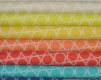 Mini Pearl Bracelets Fat Quarter Bundle of 8 by Lizzy House for Andover Fabrics
