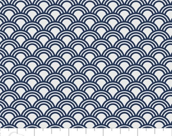 Elixir Scallops in Navy by Camelot Design Studio