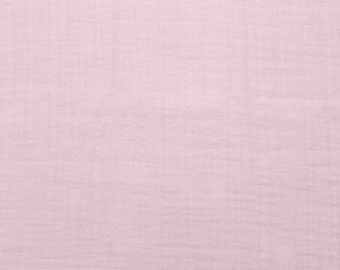 Baby PInk Solid Embrace Double Gauze Swaddling Cloth by Shannon Fabrics
