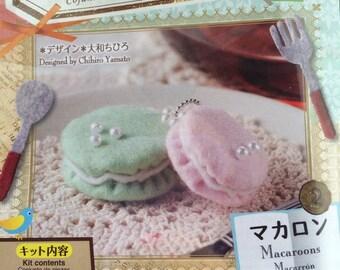 Japan Handmade Wool Felt Macaroon Kit
