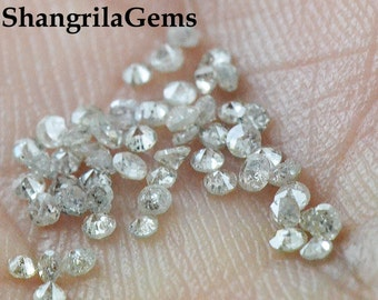 0.25ct 1.4mm to 1.5mm  Salt and Pepper Grey Diamonds brilliant cut round 9 diamonds approx