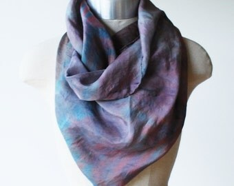 hand painted silk scarf, screen printed scarf, 88editions scarves