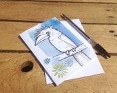 Funky bird Greetings card