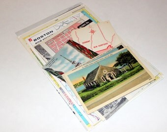 Massachusetts - United States Vintage Travel Collage Kit