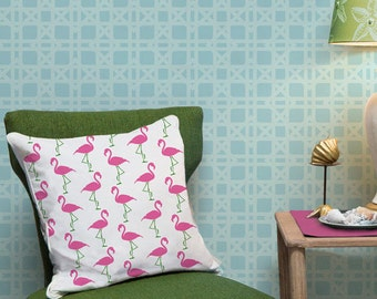 Flamingo Furniture & Fabric Stencil - Palm Springs, Nautical, Colorful Beach Decor with Painted Crafts