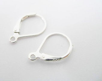 3 pairs of 925 Sterling Silver Lever Back Earring Findings 10x15 mm. :th0761