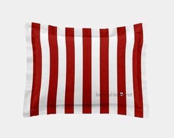 Rectangle Pillow Cover - Red Stripe - Mason, Reagan, Peyton, Connor - R1