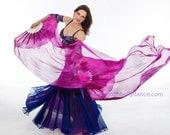 Fan Veil set (2fans)-Nebula Series-Hot Pink/Magenta