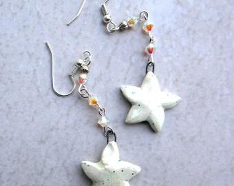 Star Earrings, Star Jewelry, Shooting Star Earrings,  Celestial Jewelry