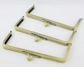 8 x 3 inches (20 x 7cm) - Large Antique Brass Purse Frame Teardrop Clasp (LCF-TEAR-03) - 3 Pieces
