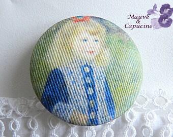 Button fabric, printed Renoir