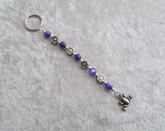 Beaded Bullfrog Key Ring